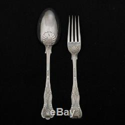 23 piece set of King's pattern Sterling Silver Flatware Monogrammed and Marked