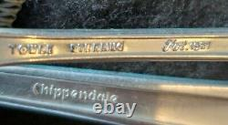 37 Pieces Vintage Towle Sterling Silver Chippendale Pattern. 6 Sets&serving Spoon