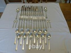 40 PIECE MAPPIN and WEBB SILVER PLATE PEMBURY PATTERN CUTLERY CANTEEN SET