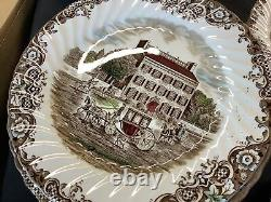 47 Pieces 4411 HERITAGE HALL 8 Place Settings Hand Painted Various patterns Free