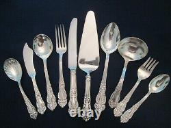 78 PIECE SET service 12! Vintage REED BARTON silverplate TIGER LILY pattern EXC