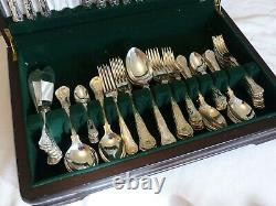 84 Piece Silver Plate George Butler Kings Pattern Cutlery Canteen Set