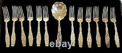 Antique Sterling 12 Piece Fork Set By Whiting Lily Of The Valley Pattern 1880's