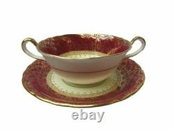 Aynsley Bone China'Coventry Deco' Pattern #7840 Dinner Set for 8 56 Pieces