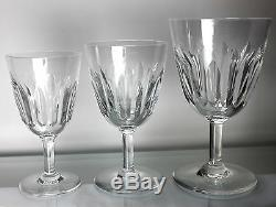 BACCARAT Lorraine Pattern Crystal Glasses 36 pieces SET of 12