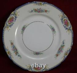 BLACK KNIGHT china RHODA BLUE pattern 30-piece SET SERVICE for 6 no cups saucers