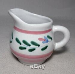 CALECA Italy china PINK GARLAND Hand Painted pattern 52-piece SET SERVICE for 12