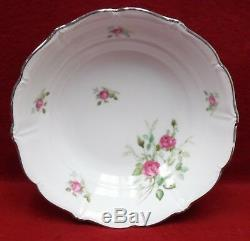 CHALFONTE china ROSE pattern 9-piece Hostess SERVING Set