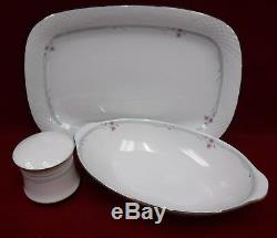 CHINA PEARL China AQUAMARINE pattern 62-piece SET SERVICE for 12 + Serving