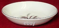 CREST WOOD china SILVER WHEAT pattern 52-pc SET Service for 8 + 5 Serving Pieces