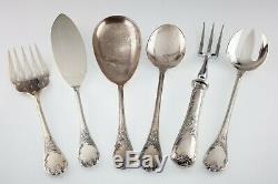 Christofle Silverplate Flatware Set in Marly Pattern 119 Pieces Gorgeous