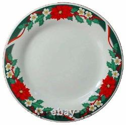 FAIRFIELD china DECK THE HALLS pattern 37-piece SET SERVICE with Teapot
