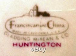 FRANCISCAN china HUNTINGTON pattern 40-piece SET SERVICE for 8