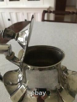 Four Piece Gorham, Sterling Silver Tea Set, Plymouth Pattern, 60 + Troy Ounces
