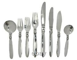 Georg JENSEN Cutlery CACTUS Pattern 48 Piece set for 6 Persons
