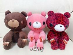 Gloomy Bear plush doll 3 pieces set Brown Pink Red leopard pattern Height 20 cm