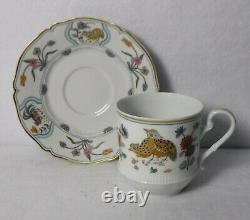HAVILAND china Limoges GOLDEN QUAIL pattern 5-Piece PLACE SETTING