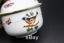 HEREND Hand Painted Bird, Butterfly, Insect 19-Piece Tea Luncheon Set Pattern HO