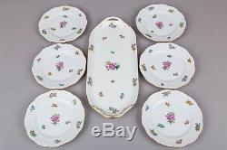 Herend Eton Pattern Dessert Set for Six People, 7 Pieces II