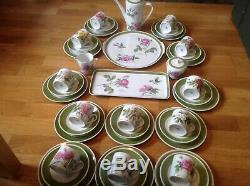 Hutschenreuther 41 Piece Coffee Set By P. J. Redoute Different Rose Patterns RARE
