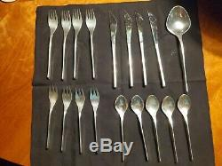 International Sterling Silver Vision pattern flatware service for 4 18 pieces