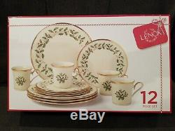 LENOX CHINA HOLIDAY PATTERN12 piece setService for 4New in retail box