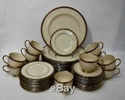 LENOX china MONROE pattern 48-piece SET SERVICE for 12 cup saucer dinner bread