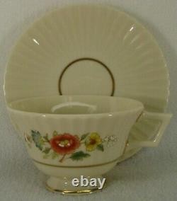 LENOX china TEMPLE BLOSSOM pattern 59-piece SET SERVICE for 12 Place Settings