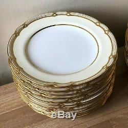 Lovely 24 piece Vintage Set Spode Gold Rimmed Dishes Pattern Y5875