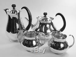 MAPPIN & WEBB Silver Plate Eric CLEMENTS Pattern 4 Piece Tea Set