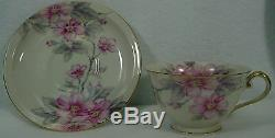 MEITO (F & B Japan) china PINK RADIANCE pattern 84 piece Set Service for 12