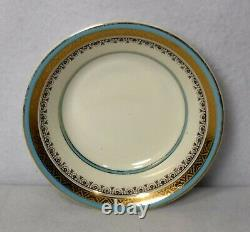 MYOTT England china THE CROWNING TURQUOISE pattern 33-piece SET Service for 4