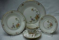NORITAKE china CERVANTES 7261pattern 58-piece SET SERVICE for 12 less 2 cups