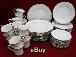 NORITAKE china STERLING COVE 7720 pattern 64-piece SET SERVICE for TWELVE (12)