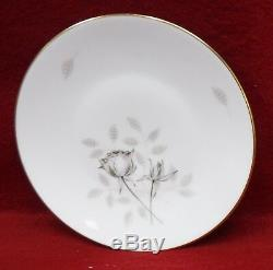 ROSENTHAL china 3434 PEACH BROWN & GRAY ROSE pattern 84-piece SET SERVICE for 12