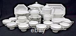 ROSENTHAL china MARIA WHITE pattern 65-piece + 9 Serving Pieces