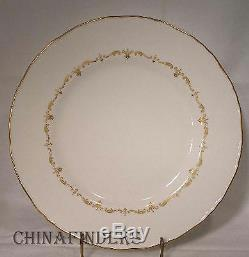 ROYAL WORCESTER china GOLD CHANTILLY pattern 47-piece SET SERVICE for Ten (10)