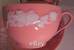 Rare! Discontinued Lenox Apple Blossom Coral Pattern 5 Piece Place Setting Mint