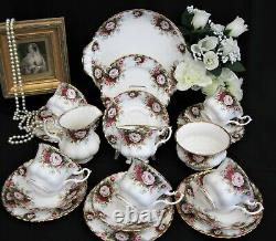 Royal Albert 21 piece Tea Set in the CELEBRATION Pattern. Cabinet Condition