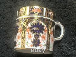 Royal Crown Derby 1128 Imari Pattern Coffee Cans And Saucers 12 Piece Set