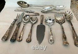 SALE! Shell & Plume Kings Pattern 133 Piece Stainless Flatware & Chest England