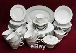 SANGO china FRESCO 3540 pattern 56-piece SET SERVICE for 8 with Serving Pieces