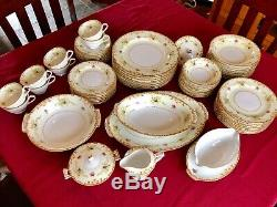 SANGO china REGAL Gold pattern 64 piece SET SERVICE for 8 including SERVING