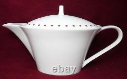 SASAKI china HIGH POINT RED pattern 33-piece SET SERVICE for 6+ with Coffee Pot