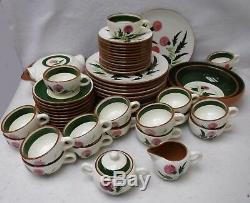 STANGL pottery THISTLE pattern 61-piece SET SERVICE for 12
