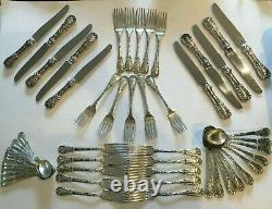Set of S. Kirk Sterling Silver Quadrille Pattern, Service for 10, 50 Pieces