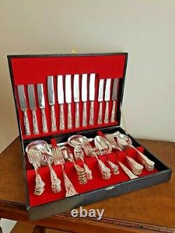 Smith Seymour Sheffield 63 Piece Kings Pattern A1 Silver Plated Cutlery Canteen