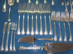VTG 56-Piece TOWLE STERLING Chippendale Pattern FLATWARE SET withCase. No Monogram