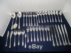 Vintage Lunt Sterling Silver Silverware set Carillon Pattern 38 Pieces