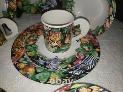 Vitromaster Service for 4 4 Piece Place Setting in the Pattern Rain Forest